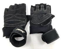 Used Men's Size Large Zinluying Wrist-Wrap Weight-Lifting Gloves Black