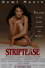 Demi Moore Signed Striptease 11x17 Movie Poster COA