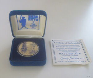 1995--BABE RUTH--COMMEMORATIVE GOLD COIN--PROOF MINT IN ORIGINAL BOX