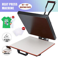 T Shirt Heat Press Machine W 15x15in Heat Pad For Phone Cases Tote Bags Amp More