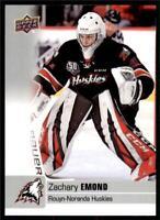 2019-20 UD CHL Base Set #51 Zachary Emond - Rouyn-Noranda Huskies