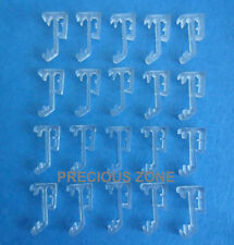 "20 pcs 1 Inch Single Slat Clear Valance Retainer Clips 1"" for Wood or Mini Blind"