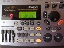 Roland TD-8 V-Drum E-Drum Brain Drumcomputer Schlagzeugmodul- Sehr guter Zustand