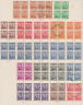 New Zealand 1938/52 Collection 4 Pages Used  VARIOUS PAPERS SHADES & BLOCKS