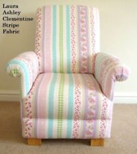 Laura Ashley Clementine Stripe Child's Chair Nursery Pink Mauve Lilac Floral New