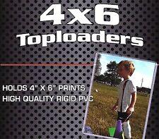 5 New 4X6 Rigid Topload Holder Photo Postcard Rigid Plastic