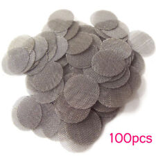 100PCS 20mm Stainless Steel Tobacco Smoking Silver Screen Pipe Metal Filters