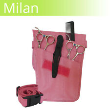 LEATHER scissor pouch MILAN Pink