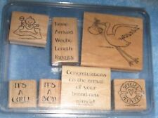 "Stampin' Up! ""Special Delivery"" Set of 7 Mounted Stamps Retired"