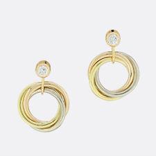 Cartier Diamond Trinity Earrings 18ct Yellow, White, Rose Gold