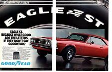 1967-1968 CHEVROLET CAMARO SS 350 ~ ORIGINAL 2-PAGE GOODYEAR AD