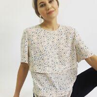 A.L.C. Silk Floral Tiered Shirt Women's Size 10