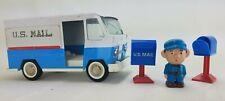 Vintage, Pressed Steel, Buddy L US Mail Truck, Mailman Figure & Mailboxes