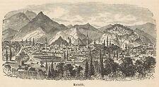 C8271 Turkey - Kütahya - General view - Stampa antica - 1892 Engraving