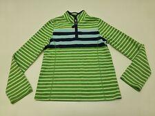 Old Navy Girls Size XL Striped Fleece Zip Neck Sweatshirt Great Condition