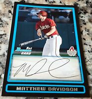 MATT DAVIDSON 2009 Bowman Rookie Card RC LOT HOT Chicago White Sox 3 HRs 1 game