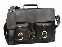 Leather Messenger Bag for Men, Handmade Full Cowhide Leather Vintage Satchel Bag