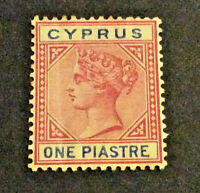 CYPRUS ,VICTORIA ,1896 ,ONE PIASTRE MOUNTED MINT
