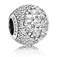 Authentic PANDORA Charm Clear CZ Pavé Enchanted Sterling Silver Bead #797032CZ