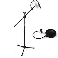 Condenser Microphone Pro Audio Studio Sound Recording Arm Stand Pop Filter