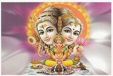 (96859) Tarjeta postal India hindú Shiva Family - sin  publicar