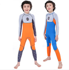Kids Boy 2.5mm Neoprene Full body Diving Suits Children Surfing Scuba Wetsuits