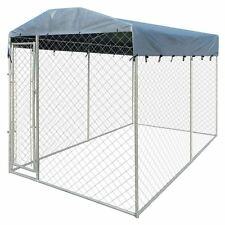 Outdoor Dog Kennel Steel Wire Cage Pet Pen Run House Covered Shade Shelter6'x13'