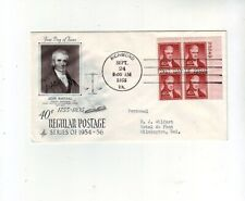 USA FDC Cover John Marshall 40c Mi#672 Block of 4 with Plate No. 24.9.1955.