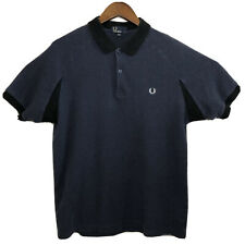 Fred Perry Contrast Polo Shirt Short Sleeve Navy Blue Men's Large