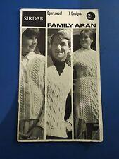 Vintage Sirdar Sportswool Family Aran 7 Designs Knitting Patterns
