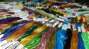 100% OASIS Shiny Silk Hand Embroidery Thread Skeins 100 Different color UK