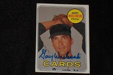 GARY WASLEWSKI 1969 TOPPS SIGNED AUTOGRAPHED CARD #438 CARDINALS