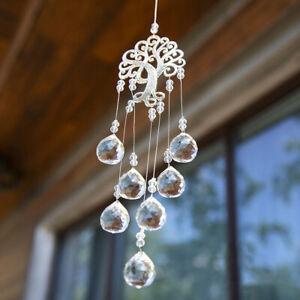 Crystal Suncatcher Life Tree Ball Prism Pendant Home Window Hanging Decor