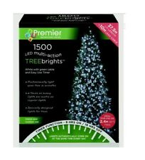Premier 1500 Ice White LED Christmas Tree Treebrights Lights Multi Action Timer