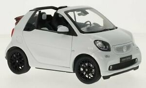 Norev Smart Fortwo Cabriolet (A453) White Red 1:18 B6696