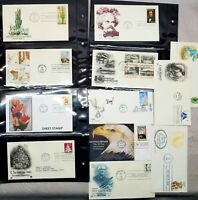 Huge Lot of 12 First Day of Issue Stamps Vtg 1980s 1990s in sleeves Excellent