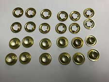 Nickel Plated or Black Oxide Grommets #3 Rolled Rim Spur Heavy Duty Brass