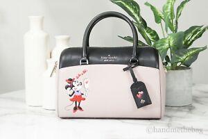 Minnie Mouse X Kate Spade Medium Pale Vellum Leather Duffle Crossbody Hand Bag