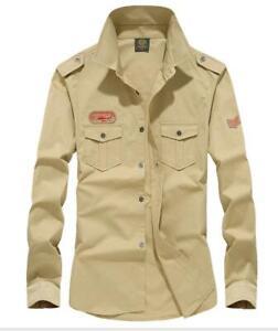 Men's Casual Shirt Button Down Cotton Slim Fit Long Sleeve Formal Shirts