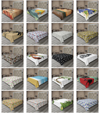 Ambesonne Tropical Nature Flat Sheet Top Sheet Decorative Bedding 6 Sizes
