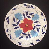 One (1) Pier 1 Dinner Plate Dish Portalegre Ceramic Earthenware Hand painted
