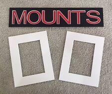 Pack of 10 Photo , Picture Mount , Frame Mounts - Various Sizes - Polar White