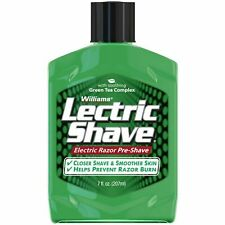 Williams Lectric Shave Electric Razor Pre-Shave With Soothing Green Tea 7 Oz.