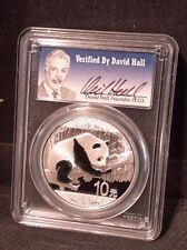 2016 China Panda PCGS MS 70 Signed By David Hall. Silver Tiny Pop. of Only 250