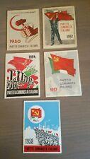 Lotto 5 Tessere Partito Comunista Italiano Anni '50