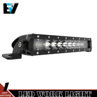 10inch 50W 5000LM Single Row LED Light Bar Spot Flood Combo w/Bracket
