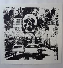 Silkscreen,art print,signed print,punk art,gothic,sci-fi, vintage horror,poster