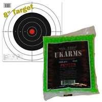 GREEN 1,000 AIRSOFT BBs Pellets 6mm .12g BB For Pistol Gun Rifle AMMO + Target