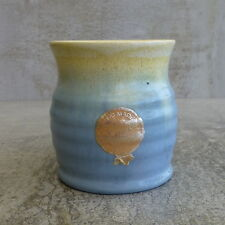 Vintage Remued Pottery Vase Drip Glaze Australian Pottery Blue Original Sticker