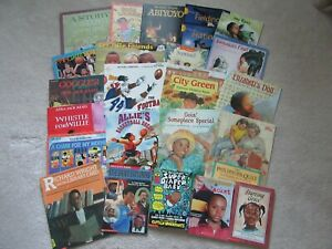 Lot of 25 African American Children Books Black Heroes History Caldecott Picture